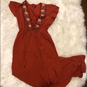 Nasty Gal rust colored jumpsuit